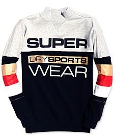 Sport Stripe-Detail Logo Sweatshirt