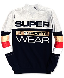 Superdry Sport Stripe-Detail Logo Sweatshirt