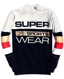 Superdry Sport Stripe-Detail Logo Sweatshirt
