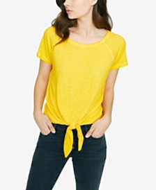 Sanctuary Lou Solid Tie-Front T-Shirt