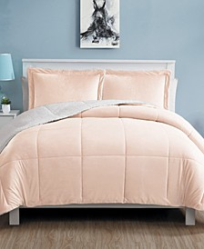 Micro Mink Sherpa 3 Piece King Comforter Set