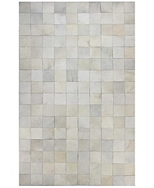 Cowhide HID-628 White 8' x 10' Area Rug