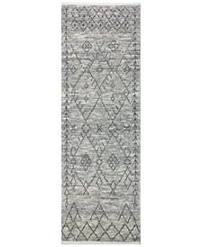 "Natural Wool NAT-8 Gray 2'6"" x 8' Runner Area Rug"