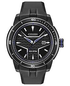 Marvel by Citizen Eco-Drive Men's Black Panther Black Bracelet Watch 47mm