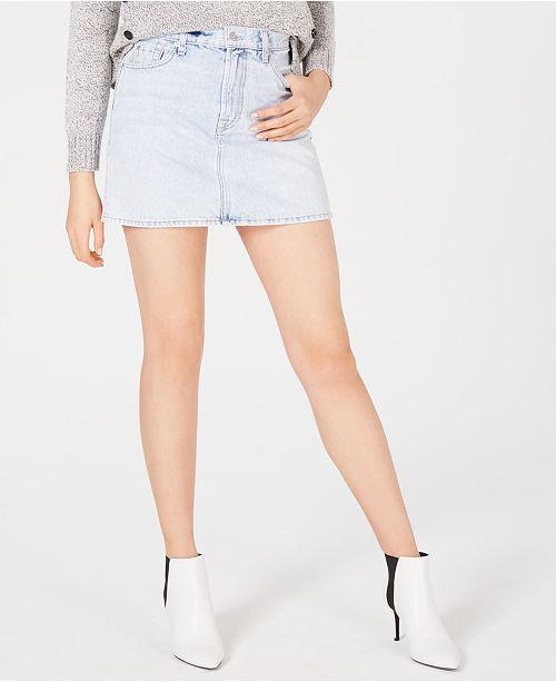 7 For All Mankind Cotton Denim Mini Skirt