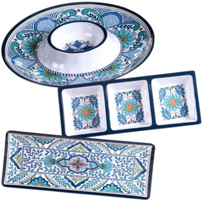 Talavera 3-Pc. Melamine Hostess Set
