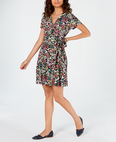 Tommy Hilfiger Flower Market Wrap Dress, Created for Macy's