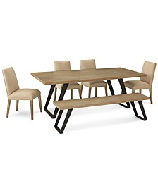Clarita Dining 6-Pc. Set (Table, 4 Side Chairs & Bench), Created for Macy's