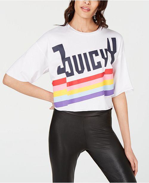 9acf4f44d06fb Juicy Couture Rainbow Logo T-Shirt & Reviews - Tops - Juniors - Macy's