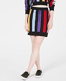 Bold Vertical-Stripe Skirt