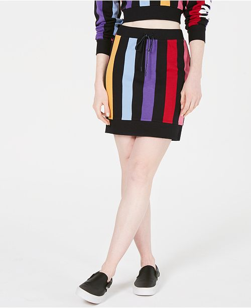 Juicy Couture Bold Vertical-Stripe Skirt
