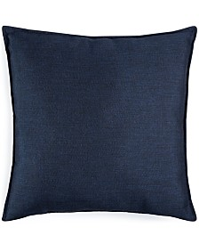 "Small World Home Jetrich Canada Solid Navy 20"" x 20"" Decorative Pillow"