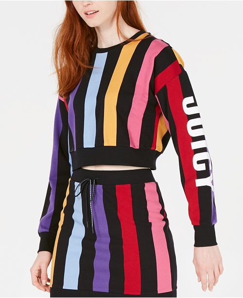 Juicy Couture Bold Vertical Striped Sweatshirt