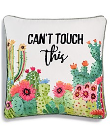 "Lacourte Can't Touch This Pillow 20"" x 20"" Decorative Pillow"