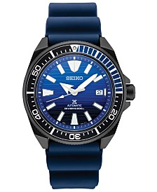 SPECIAL EDITION Seiko Men's Automatic Prospex Blue Silicone Strap Watch 44mm