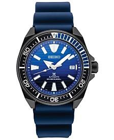 SPECIAL EDITION Seiko Men's Automatic Prospex Blue Silicone Strap Watch 44mm