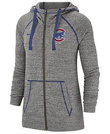 Women's Chicago Cubs Gym Vintage Full-Zip Hooded Sweatshirt