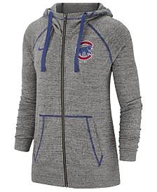 Nike Women's Chicago Cubs Gym Vintage Full-Zip Hooded Sweatshirt