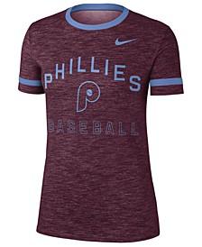 Women's Philadelphia Phillies Slub Crew Ringer T-Shirt
