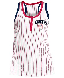 5th & Ocean Women's New York Yankees Pinstripe Tank Top