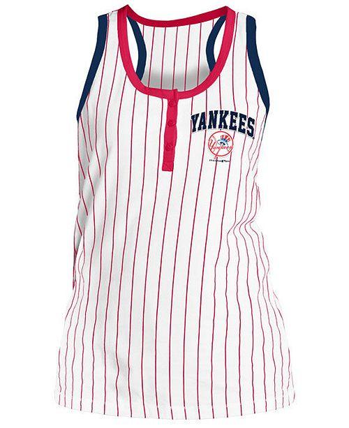 5th & Ocean Women's New York Yankees Pinstripe Tank Top