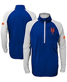 Big Boys New York Mets Destined Quarter-Zip Pullover
