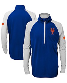 Outerstuff Big Boys New York Mets Destined Quarter-Zip Pullover