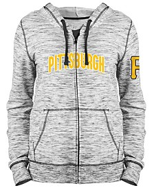 5th & Ocean Women's Pittsburgh Pirates Space Dye Hoodie