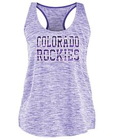 Women's Colorado Rockies Space Dye Back Logo Tank