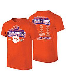 Retro Brand Men's Clemson Tigers 2019 National Championship Undefeated Schedule T-Shirt