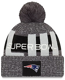 New Era New England Patriots Super Bowl LIII Participant Pom Knit Hat