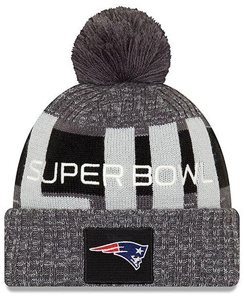 91d41967 New England Patriots Super Bowl LIII Participant Pom Knit Hat