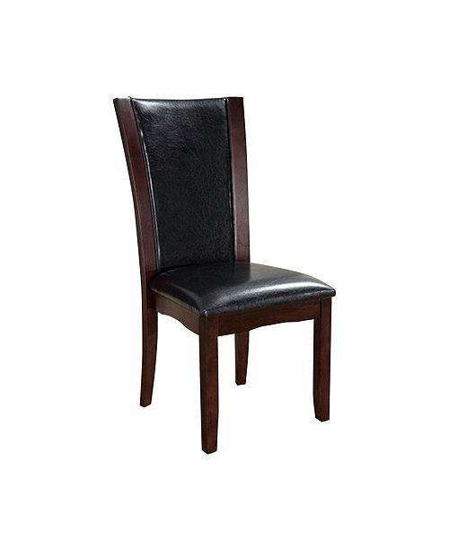 Benzara Contemporary Manhattan Side Chair with PU - Set Of 2