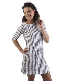 YALA Adrianna Boat Neck 3/4 Sleeve Viscose from Bamboo Dress with Pockets