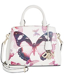 DKNY Paige Small Leather Butterfly Satchel, Created for Macy's