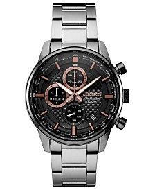 Seiko Men's Chronograph Stainless Steel Bracelet Watch 42.7mm