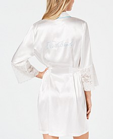 The Bride Short Satin Wrap