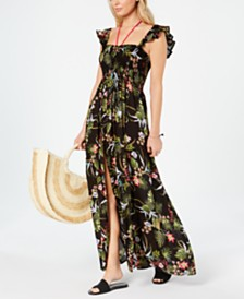 Raviya Floral Printed Maxi Cover-Up Dress