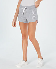Calvin Klein Performance Logo Curved-Hem Shorts