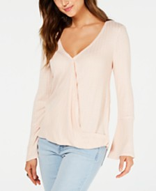 Style & Co V-Neck Bell-Sleeve Top, Created for Macy's