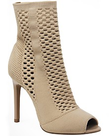 CHARLES by Charles David Inspector Peep Toe Sock Booties