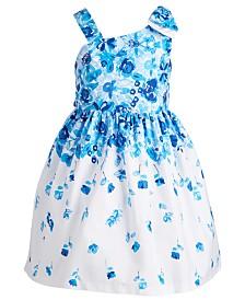 Bonnie Jean Toddler Girls Floral-Print Bow Shoulder Dress