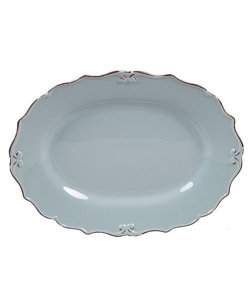 Certified International Vintage Blue Oval Platter