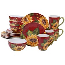 Certified International Sunset Sunflower 16-Pc. Dinnerware Set