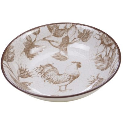 Toile Rooster Serving/Pasta Bowl
