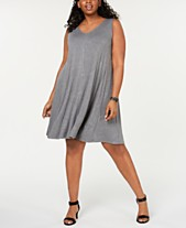0505e688bec Style   Co Plus Size Solid Crisscross-Back Dress