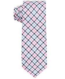 Lauren Ralph Lauren Big Boys Pink Gingham Multi-Check Silk Tie