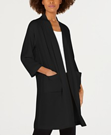 Eileen Fisher Longline Silk Jacket, Regular & Petite