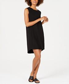 Eileen Fisher Cotton Scoop-Neck Dress