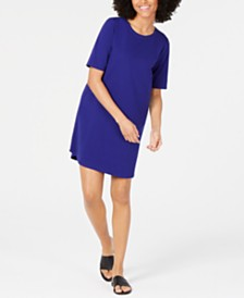 Eileen Fisher Crewneck Cotton T-Shirt Dress
